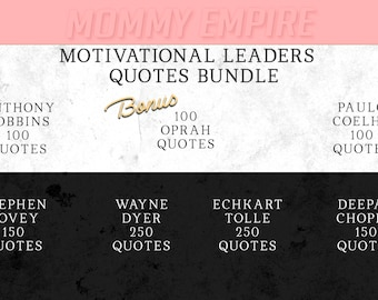 Social Media Motivational Quotes bundle 1000 - for Instagram Pinterest Blog Facebook, Marketing Branding Kit