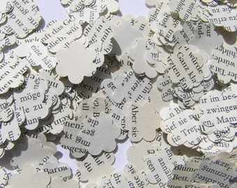 Confetti vintage vintage flower blossom confetti wedding confetti paper confetti flower decorations recycled books rustic