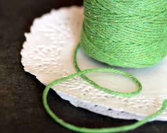 Green baker's twine, packaging twine, coton twine 10m