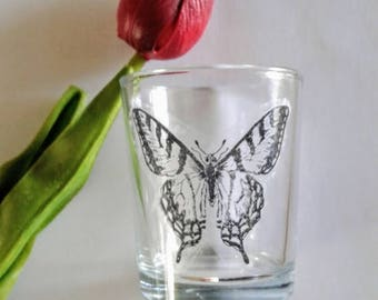 Butterfly Candle Holder, Butterfly Candle, Monarch Butterfly, Glass Votive Cups, Glass Votive Candle Holder, Butterfly Lover Gift
