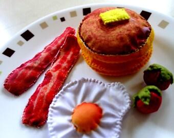 Pancake bacon play food, pancake play food set, breakfast play food, pancake, pretend play food, pancake food toy, pancakes play set