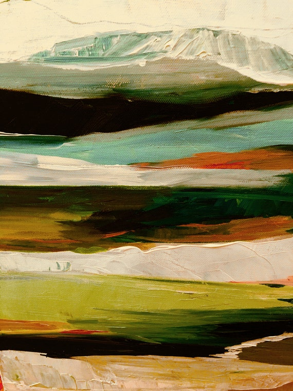 Modern Abstract Landscape Fall Colors