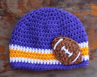 LSU Tigers football baby & kids crochet beanie