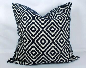 Dark blue throw pillow covers 20x20 decorative boho pillow cases blue pillow shams 18x18 pillow cover 24x24 pillow covers euro sham 26x26