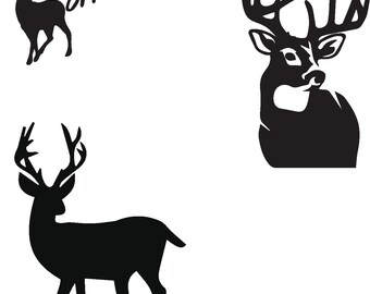 Deer Full Silhouettes