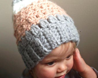 Colour Block Slouch Hat - Toddler - PDF Pattern