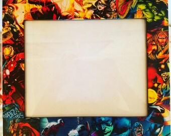 Marvel Comics Picture Frame. Made to Order. Doctor Strange, Ms. Marvel, Spiderman, Hulk, Iron Man, Thor, Captain America. Perfect decor!