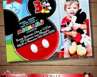 Mickey Birthday Invitation Mickey Mouse Mickey Mouse