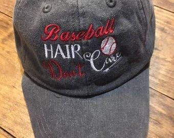 Baseball Hair Don't Care Baseball Cap