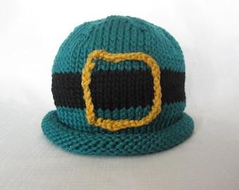 Boston Beanies Irish Leprechaun Hat, Knit Cotton Baby Hat great photo prop
