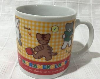 Vintage 1993 Sanrio Noranekoland Ceramic Coffee Mug