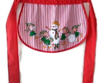 Vintage Himself the Elf Christmas Apron 80s