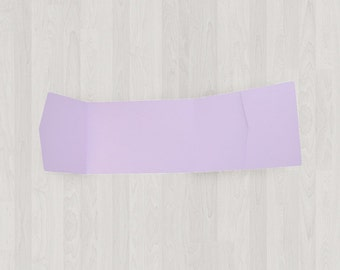 10 Panorama Pocket Enclosures - Light Purple - DIY Invitations - Invitation Enclosures for Weddings and Other Events