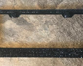 6 Row Chrome Metal License Plate Frame Made With Swarovski