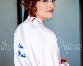 BRIDAL PARTY ROBES - White Satin Robes - Bridesmaid Robes - Bridesmaids Robes - Silk Robes for Bridesmaid - Getting Ready Robe - Kimono Robe