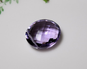 AAA Pink AMETHYST Faceted Oval Pendant-9.68 Carats