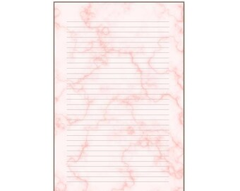 Pink marble notepads or inserts