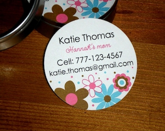 Calling Cards Business cards Mommy cards - Set of 45 cards in a tin
