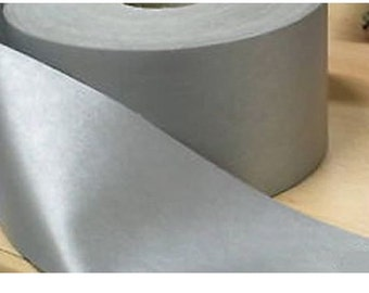 Silver Reflective Iron On Tape Safety Grey 50mm Wide Hi Visibility Sold by Metre Lengths