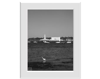 Digital Photo - The Pier Geelong b+w Corio Bay Victoria Australia