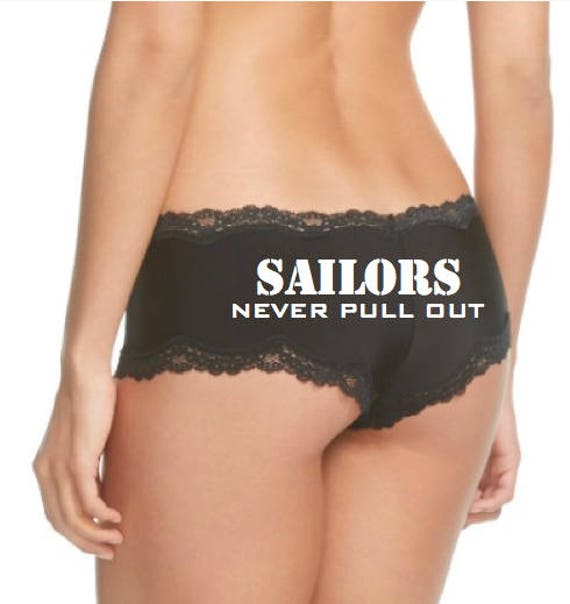 Sailors Never Pull Out Black Panties FAST SHIPPING