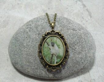 Lemur Necklace Pendant Jewelry Antique Bronze