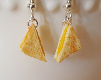Grilled Cheese Earrings - Food Jewelry - Sandwich Earrings - Food Earrings - Toasted Cheese