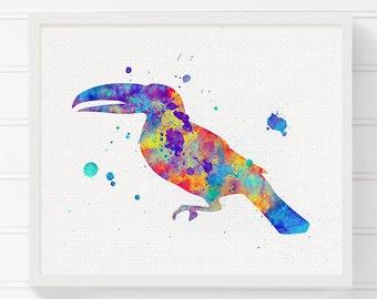 Watercolor Toucan, Toucan Print, Toucan Art, Toucan Painting, Toucan Poster, Toucan Wall Decor, Toucan Wall Art, Bird Print, Nursery Art