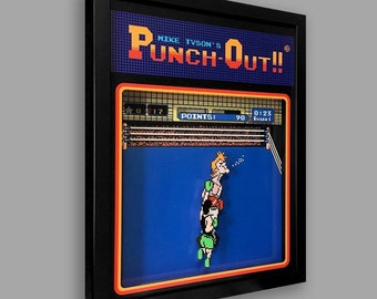 Punch-Out Shadowbox Art