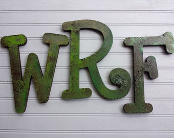 Initial Wall Letters - Painted Wall Initials - Set of 3 - Large Wall Initials