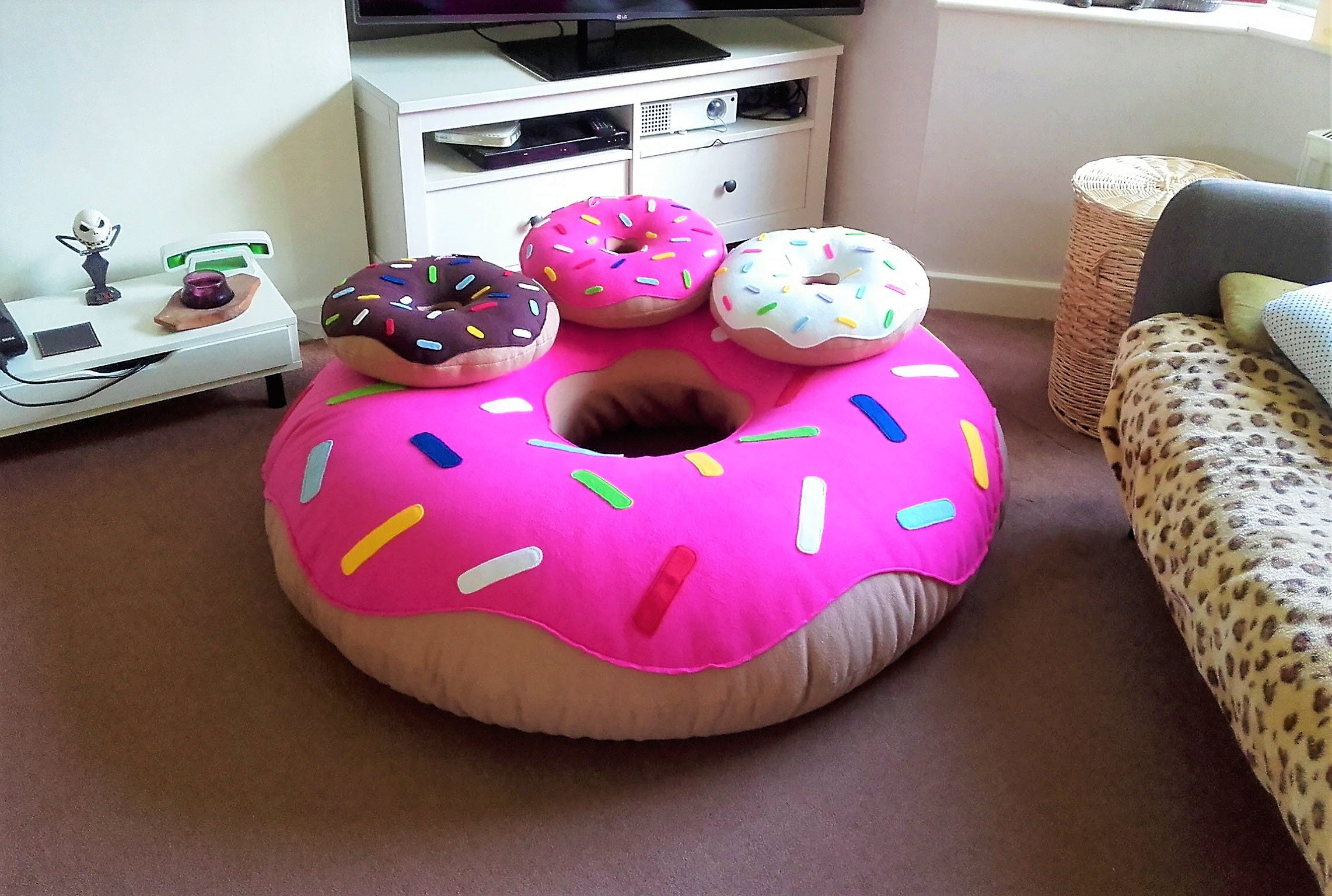 polaire g ant donuts en xtra grande et grande fait la. Black Bedroom Furniture Sets. Home Design Ideas