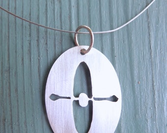 Sterling Silver Kayak Pendants