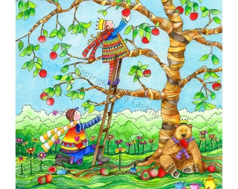 A tree is known by its fruit, a man by his deeds. A good deed is never lost.....Limited Edition Print by Jenny Laidlaw