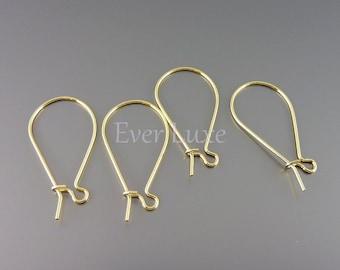 20 Small delicate kidney ear wires earwires earrings for jewelry making, do it yourself jewelry B025-BG-SM
