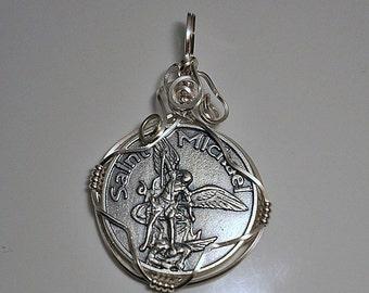 Archangel Saint  Michael Medal Pendant
