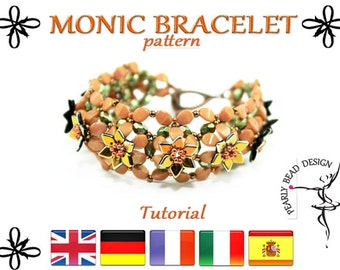 MONIC bracelet with Dragon scale and Pinch beads pattern