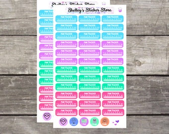 Pain Tracker Planner Stickers