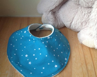 """Stars"" bandana bib blue and white"