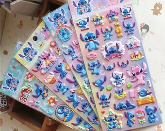 Puffy Lilo and Stitch stickers, Lilo and Stitch sticker, Cartoon sticker, Stitch sticker, Lilo sticker, Disney stickers 17 18 19 26
