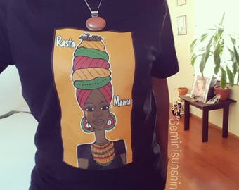 Rasta Mama Unisex short sleeve t-shirt