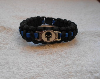 The Punisher Series - Charm # 5E - Paracord Bracelet - Hand Made