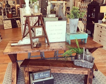X Brace Industrial Farmhouse Table (Local Pickup Only)