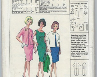 Vintage 1960s Mail Order Printed Pattern 60  Suave By McCalls Misses Dress Size Small  Uncut Factory Folded