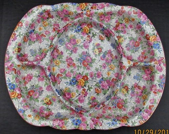 Lord Nelson Ware 'Marina' Chintz Divided Triangle Serving Dish,Relish,Hor dives
