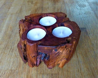 Juniper Wood Candle Holder