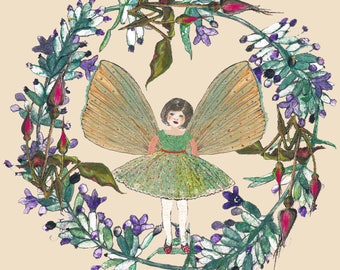 Potato printed 'Fairy in the Lavender' greeting card
