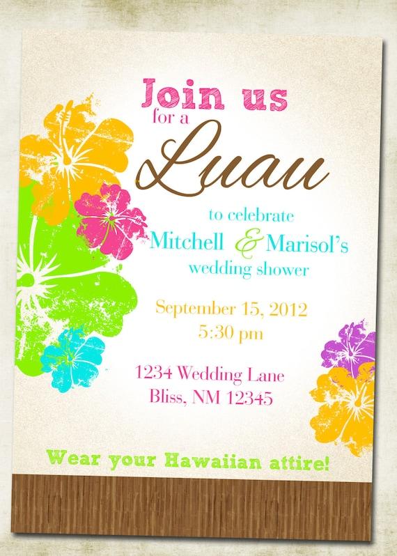 hawaiian invitation cards selo l ink co