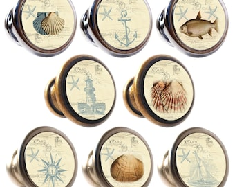 Nautical Decorated Zinc Alloy 30mm Drawer Cupboard Cabinet Knobs