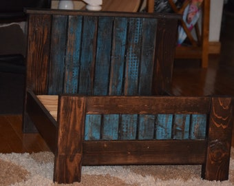 Custom made wood dog beds and accessories