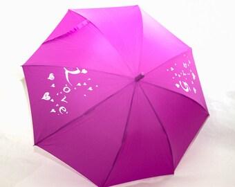Purple wedding umbrella